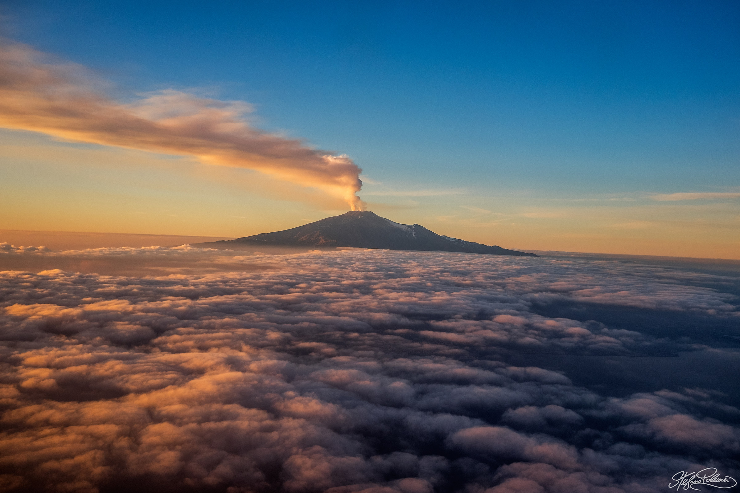 Etna at sunset...