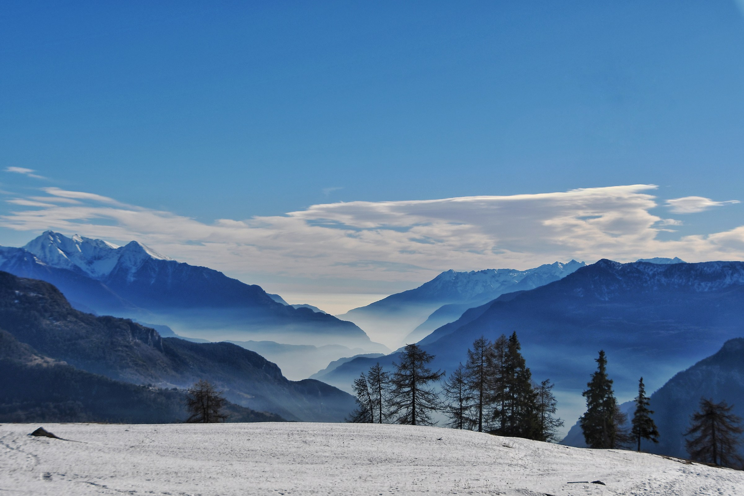 View from the surroundings of Torgnon (Valle d'aosta)...