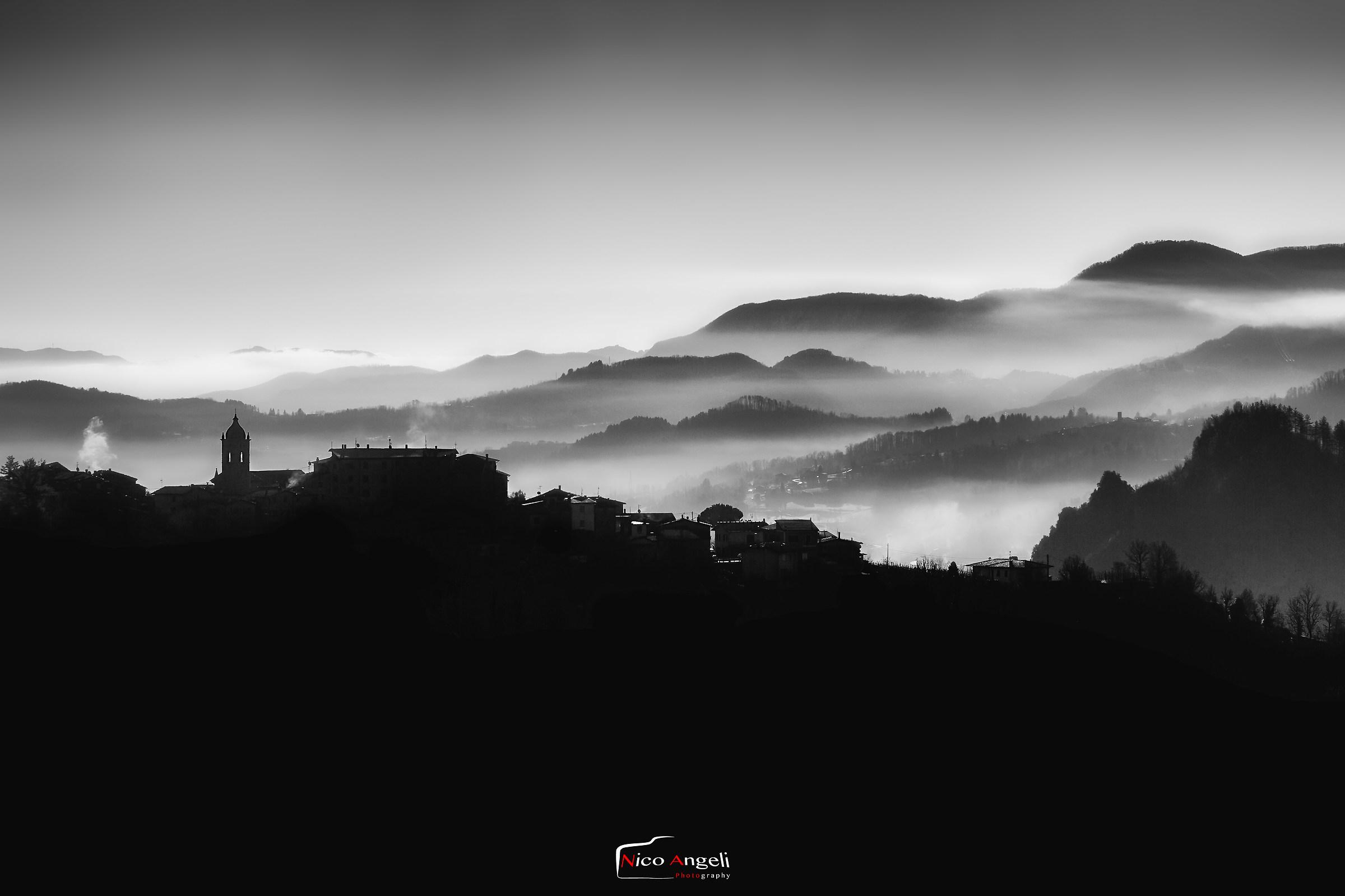 The cold mornings of the Garfagnana ...