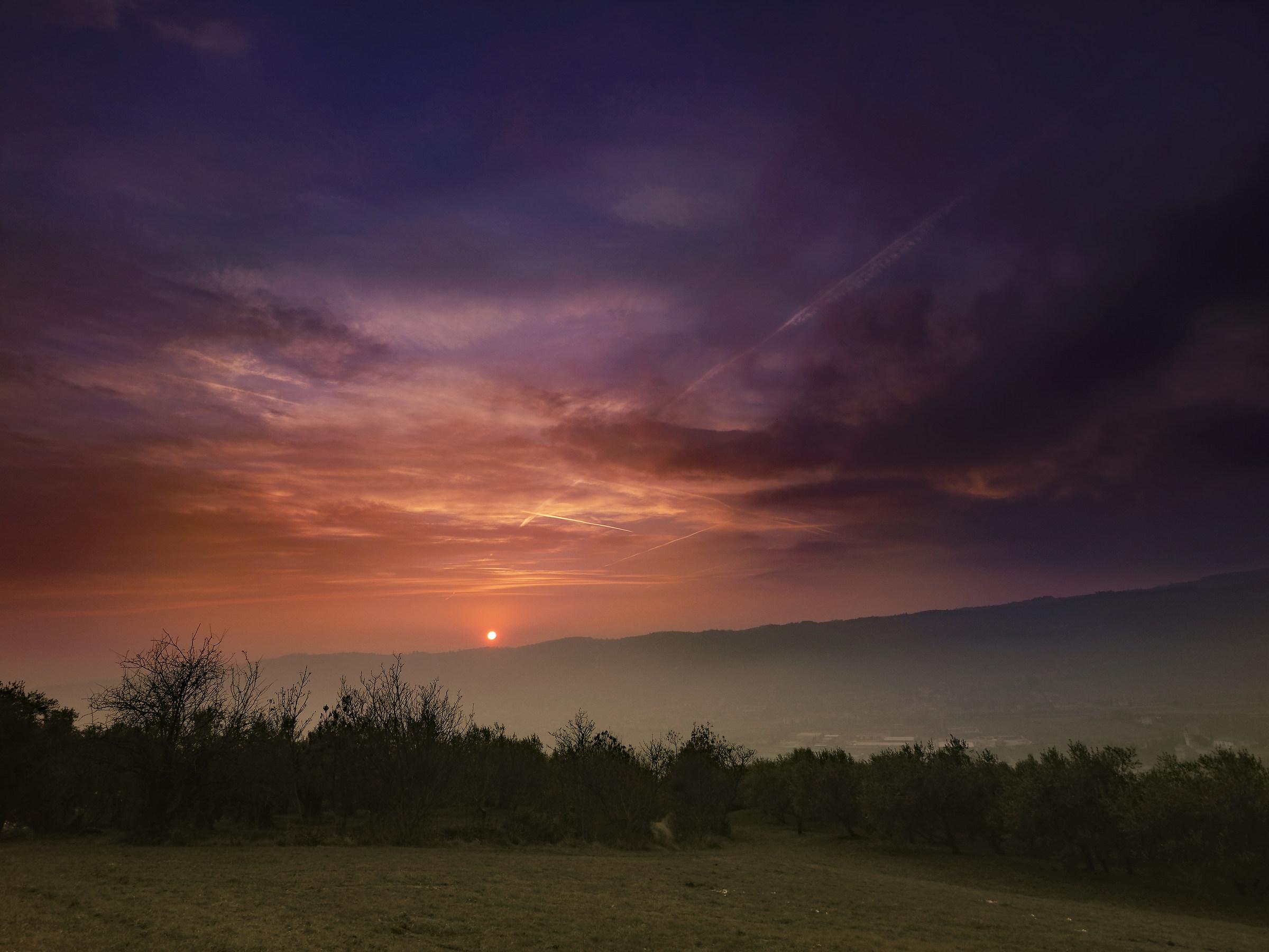 Misty Sunset on Valpantena...