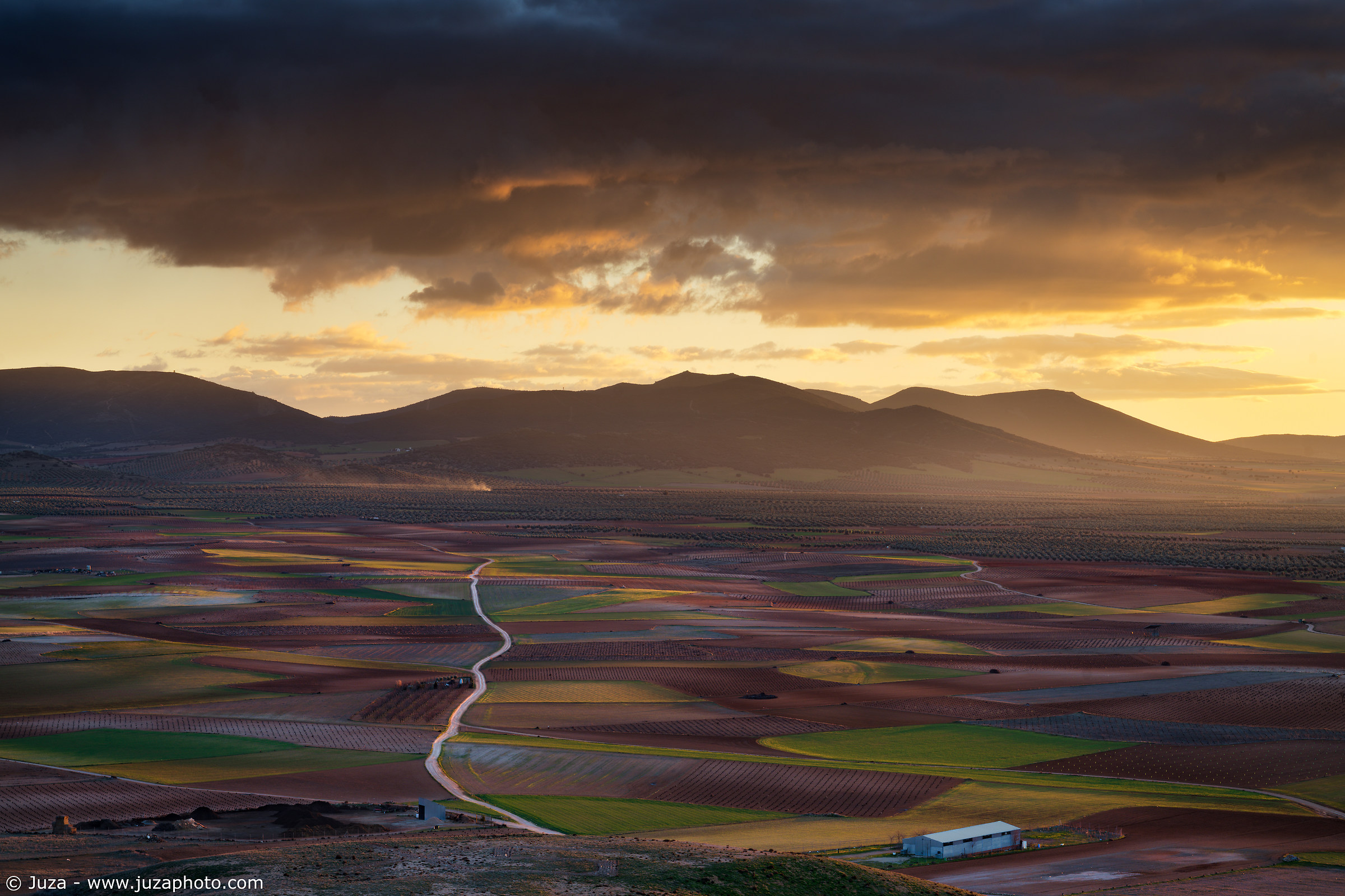 Sunset on La Mancha, Spain...