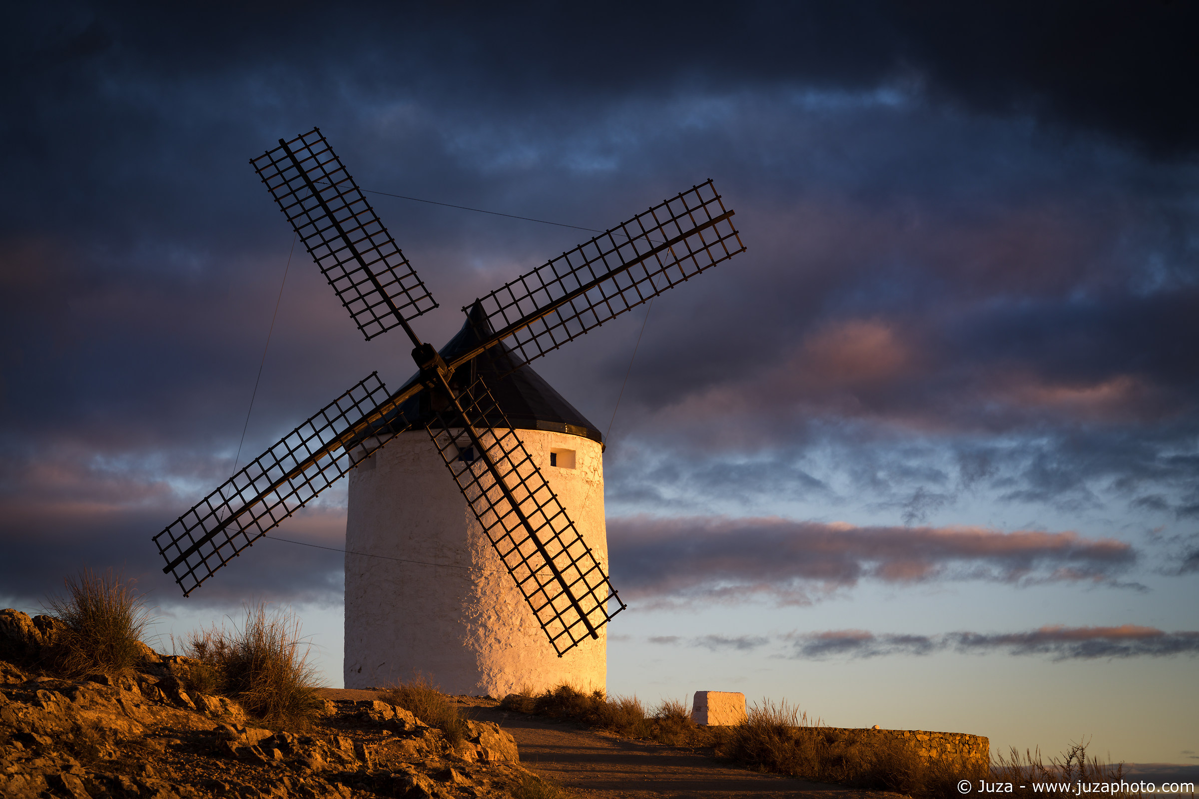 Consuegra in the light of the sunset...