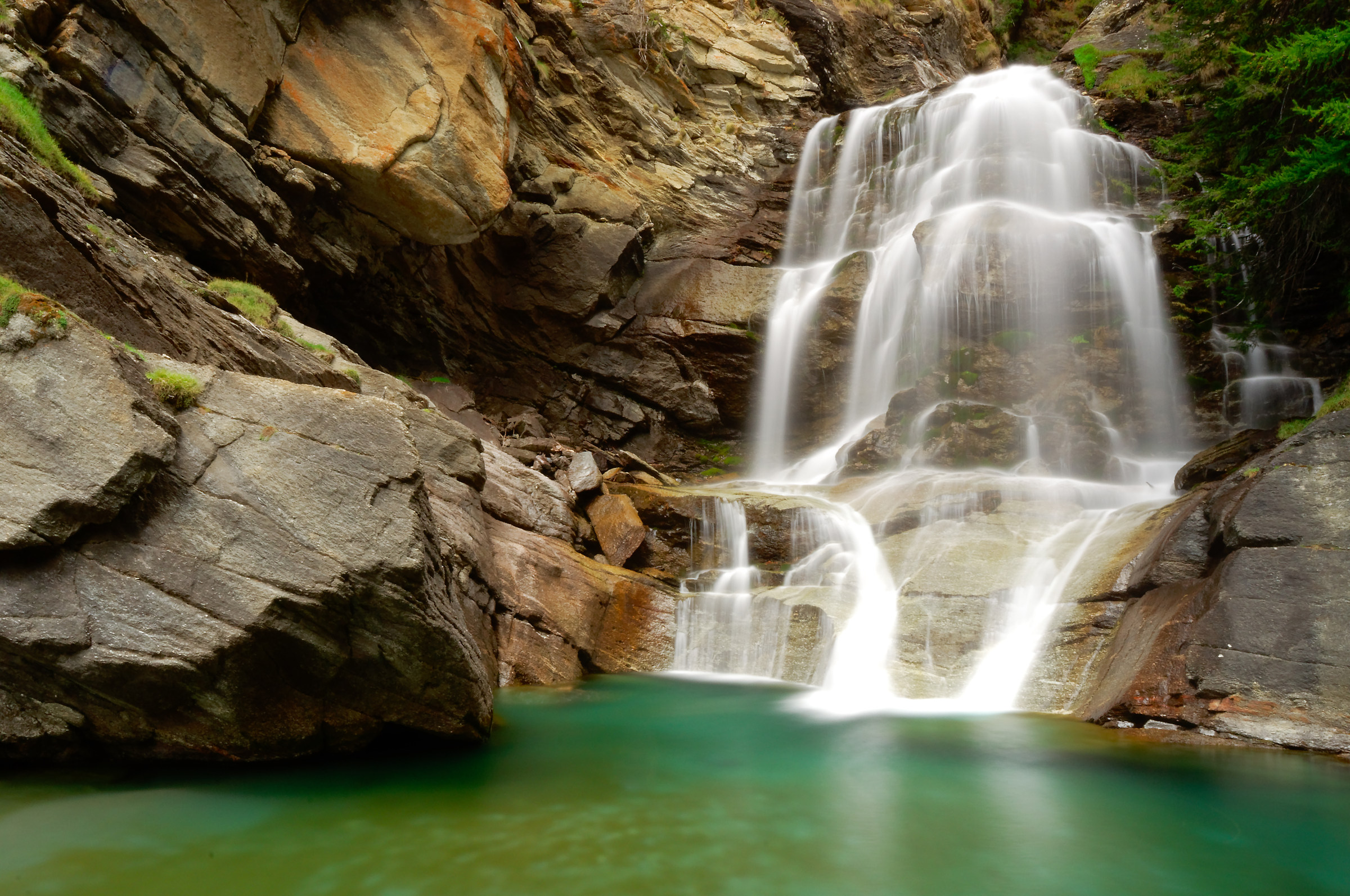 Waterfalls in the Grand Paradise National Park...