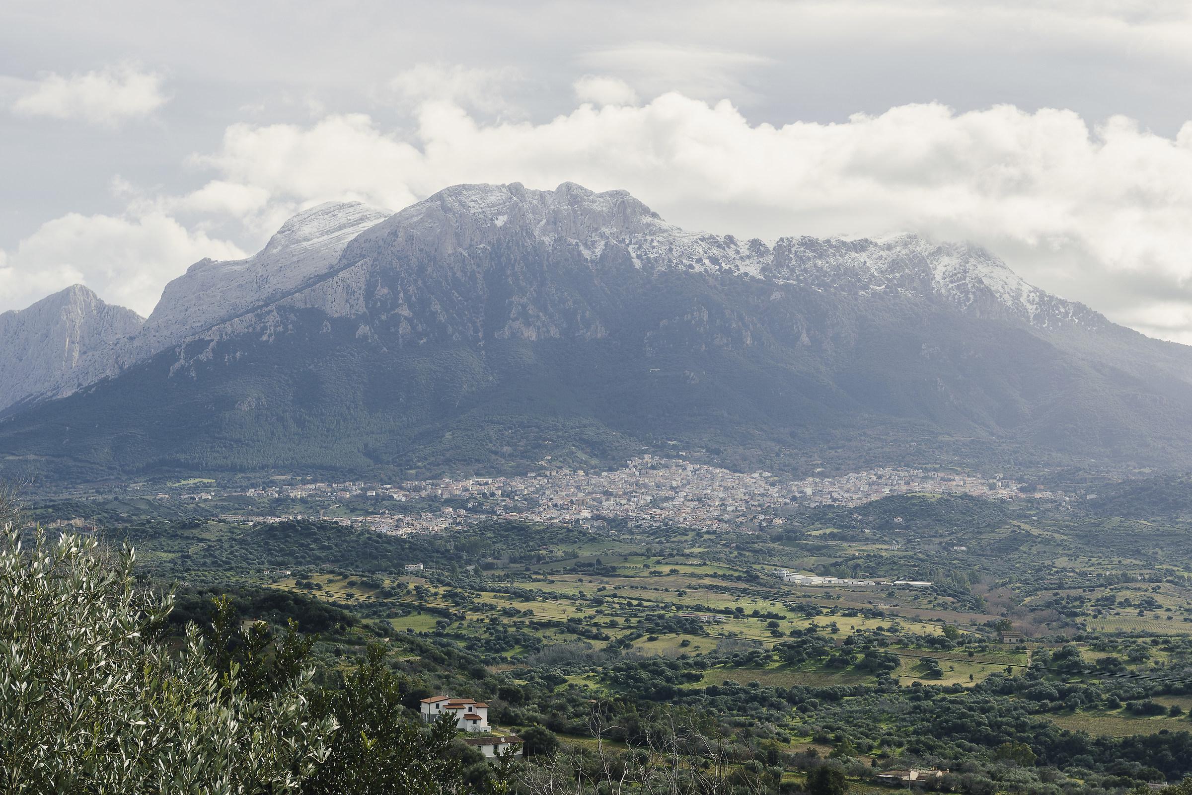 Oliena and Monte Corrasi...