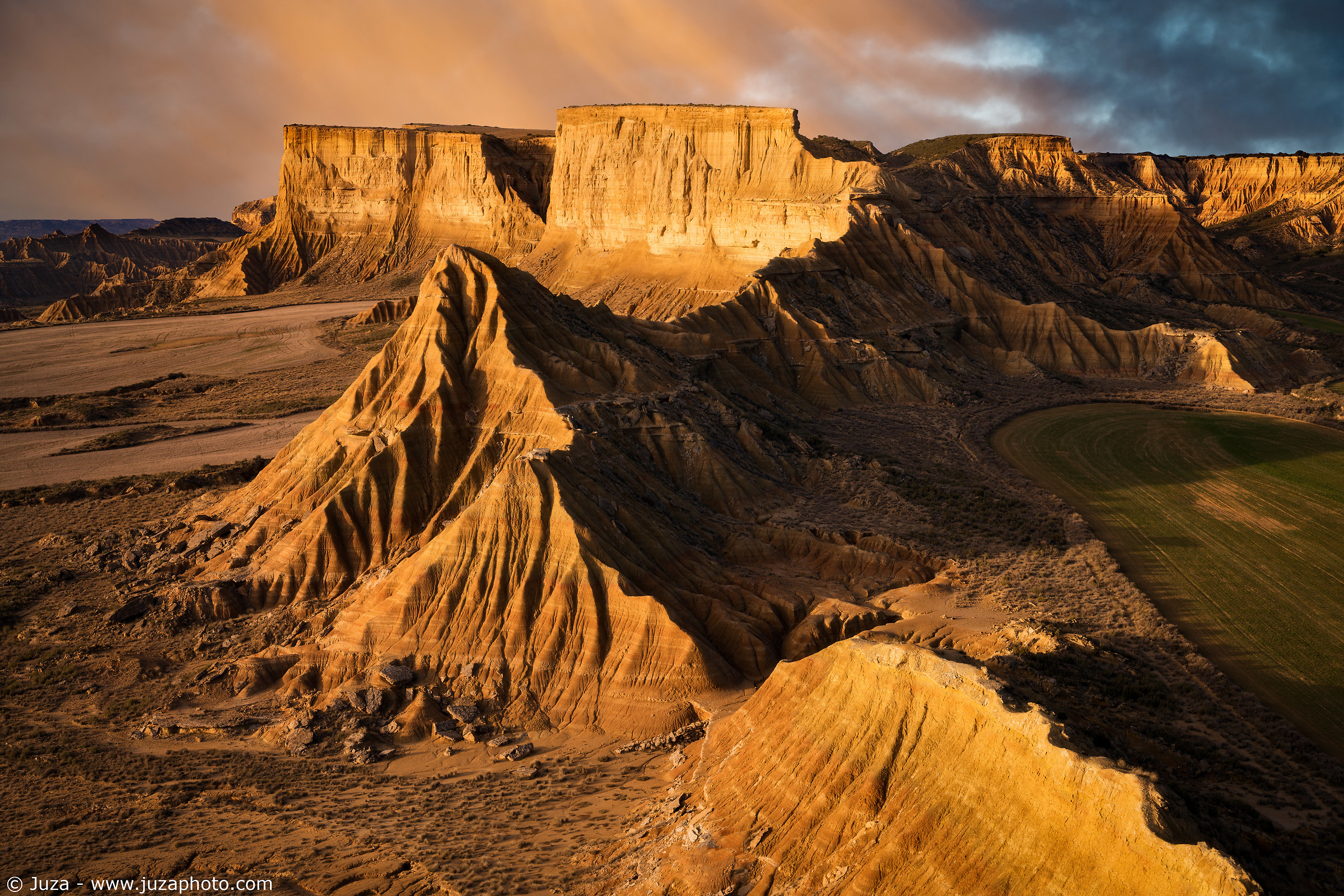 Sunset over the Bardenas reales...