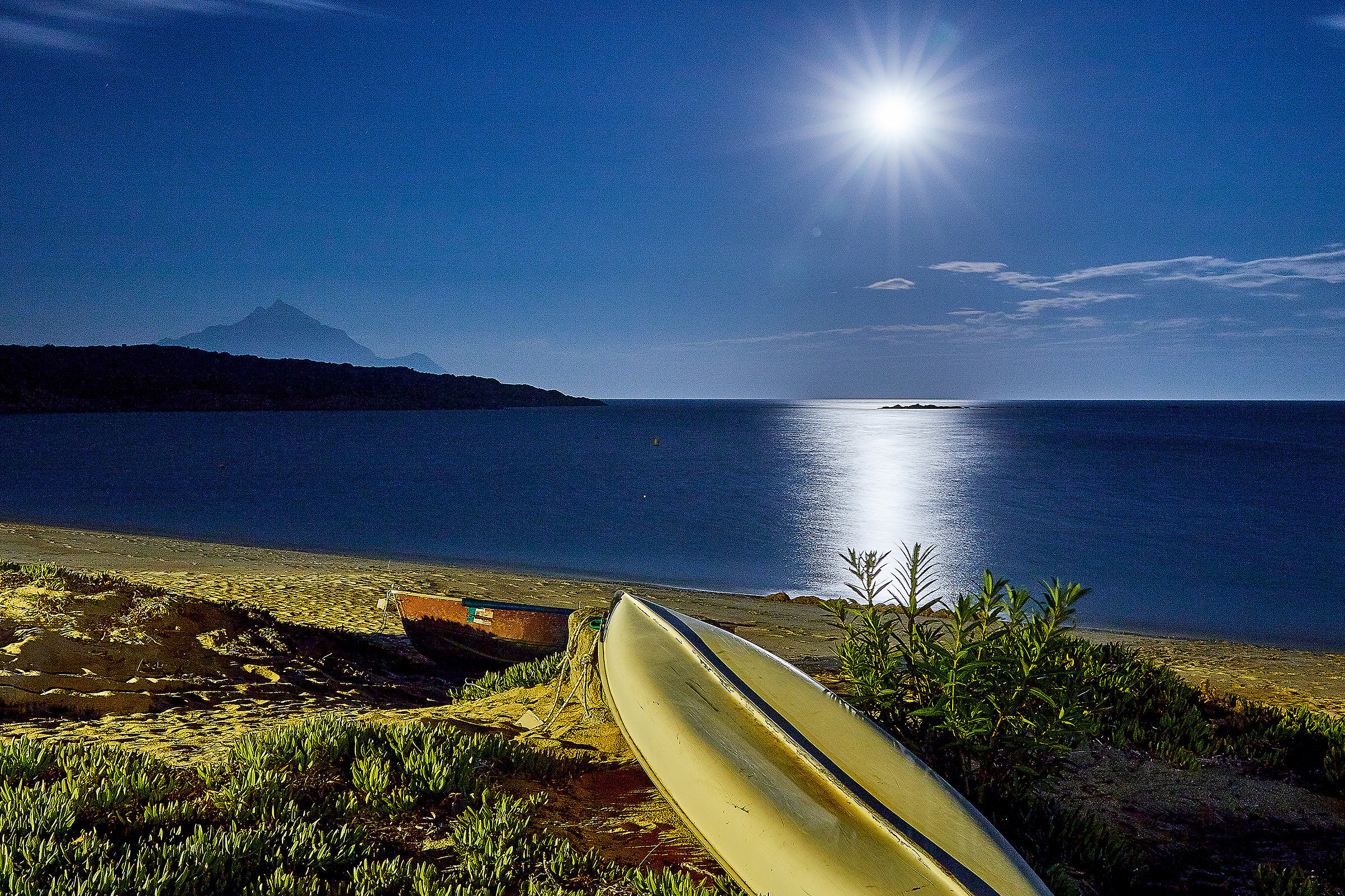 Day or night? Mount Athos, (Chalkidiki-Greece)...