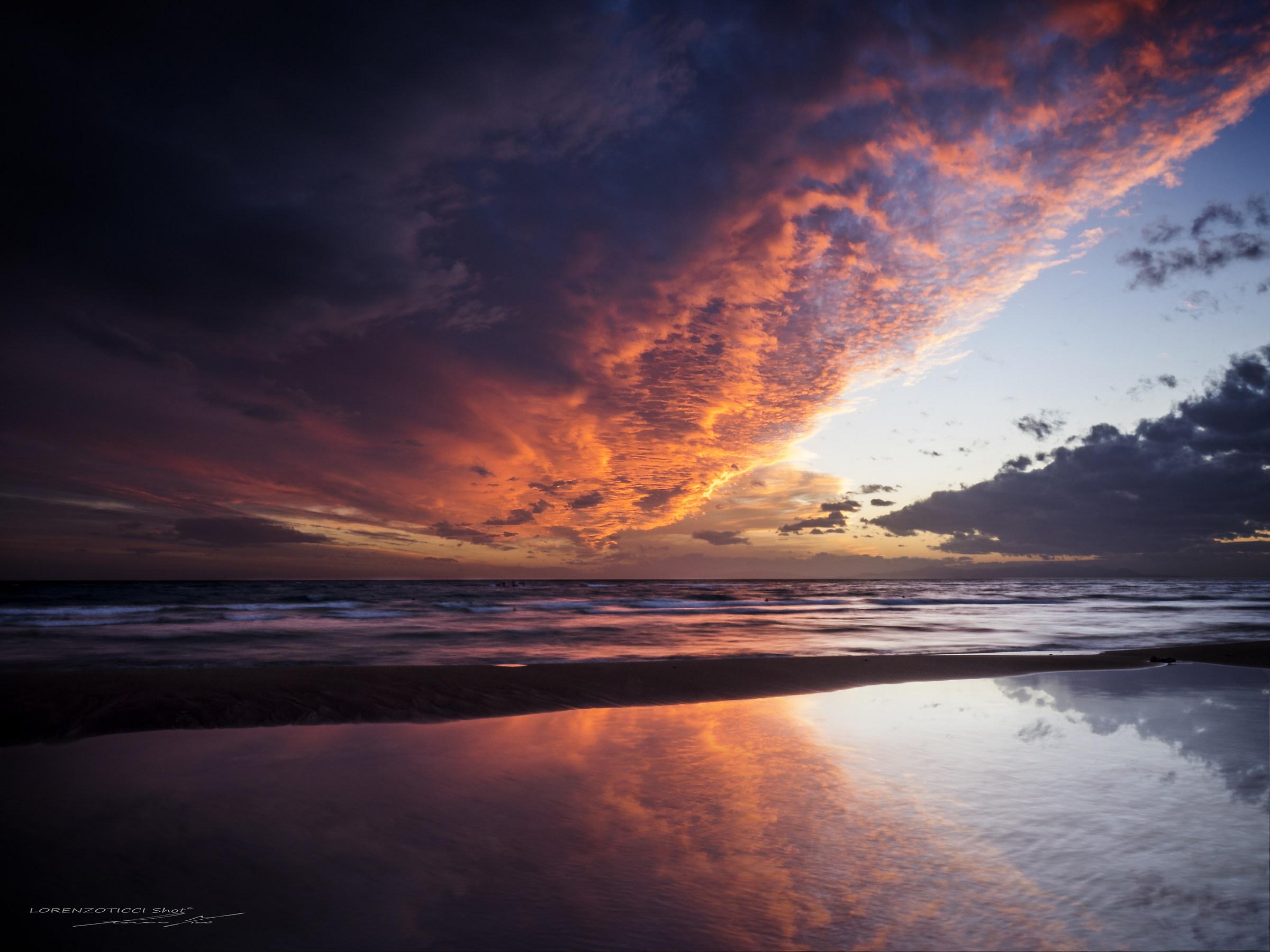 When the sea wears sky...
