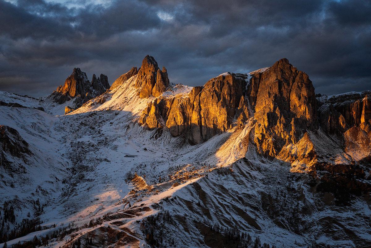 The golden light of the Dolomites...