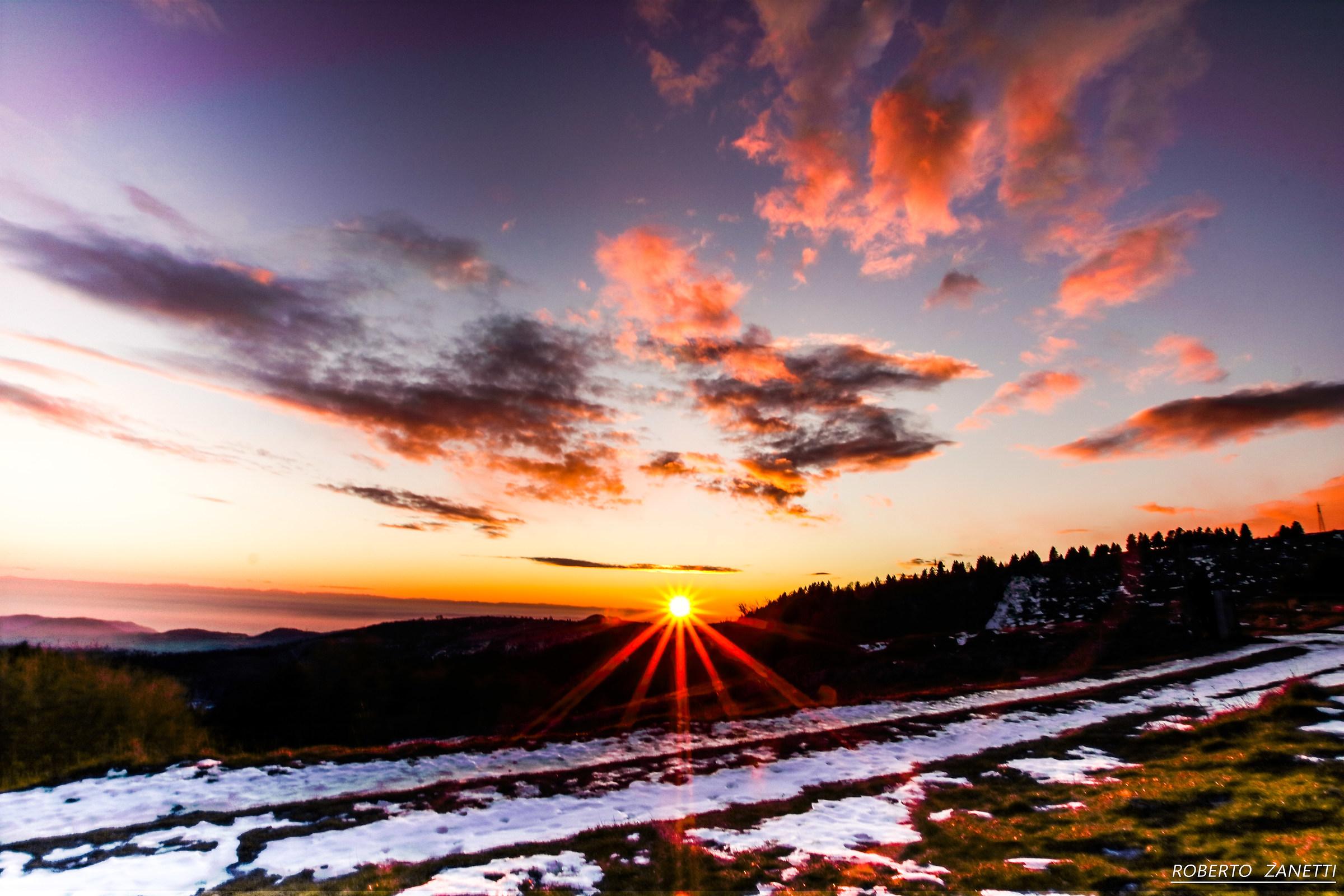 Sunset in Lessinia...