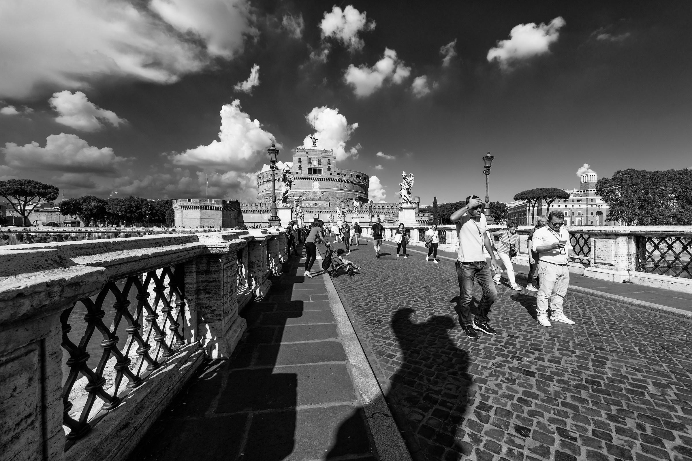 ROME-Castel S. Angelo in b/w...