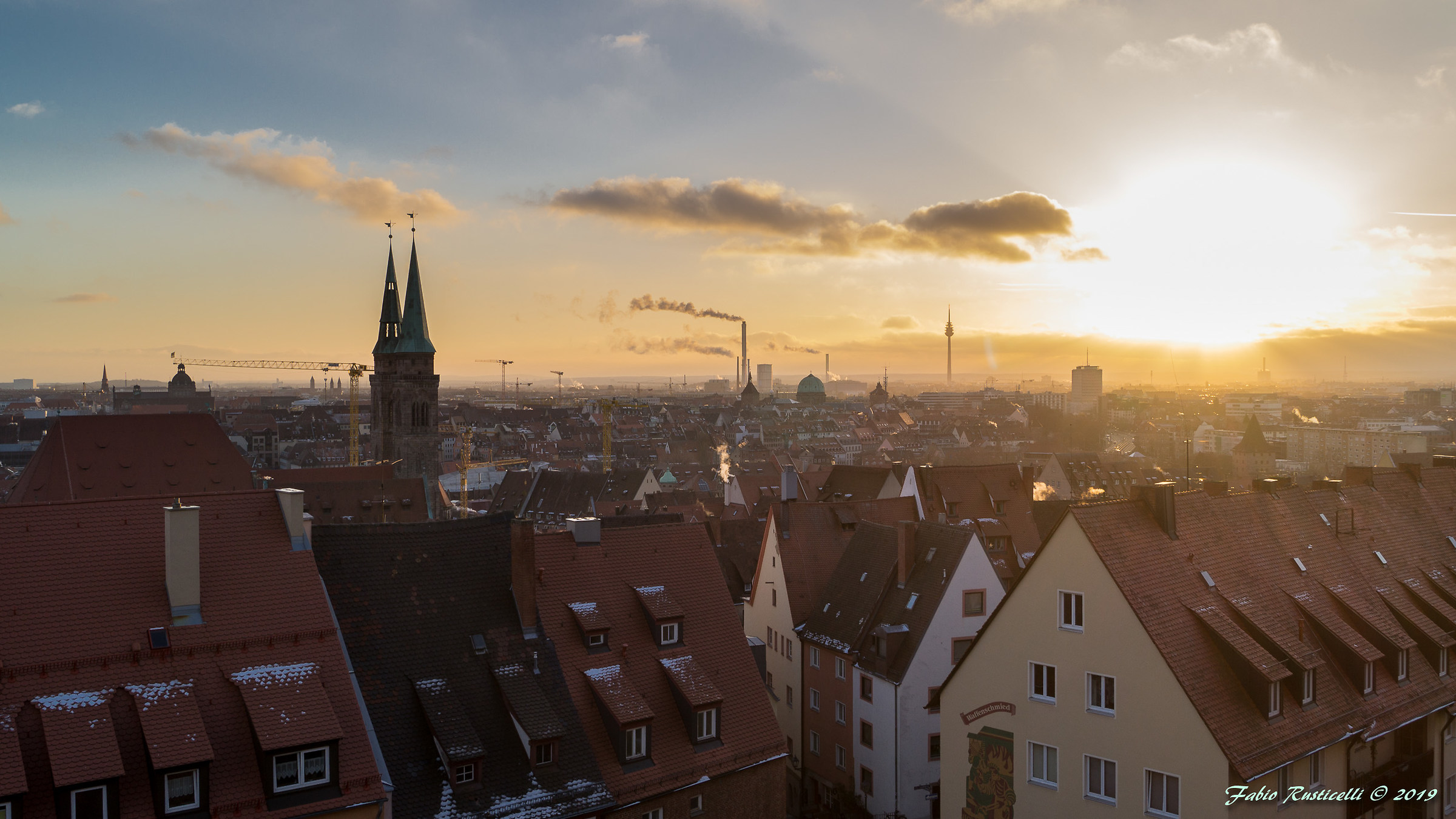Winter Sunset in Nuremberg...