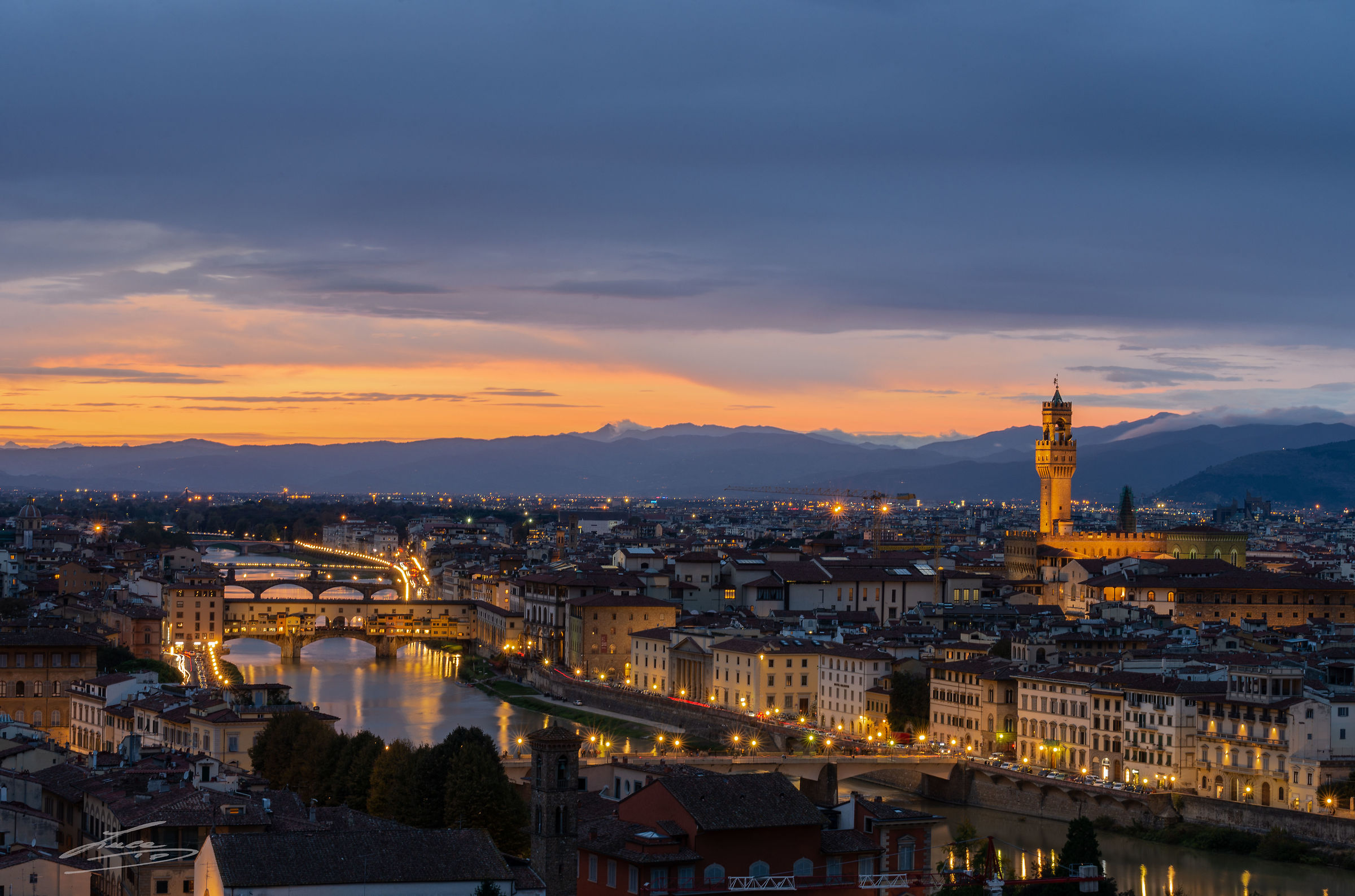 Sunset in Florence...