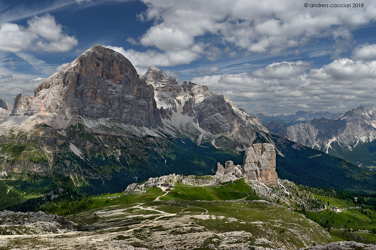 The Tofane and the five towers...