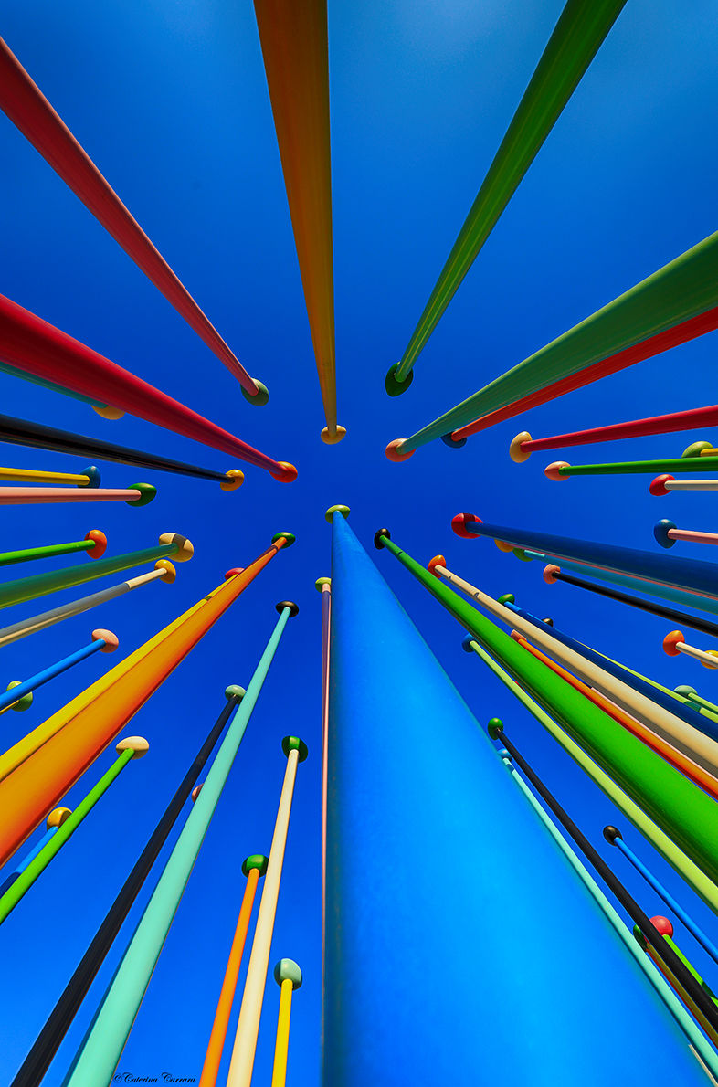 Colors pointed at the sky...