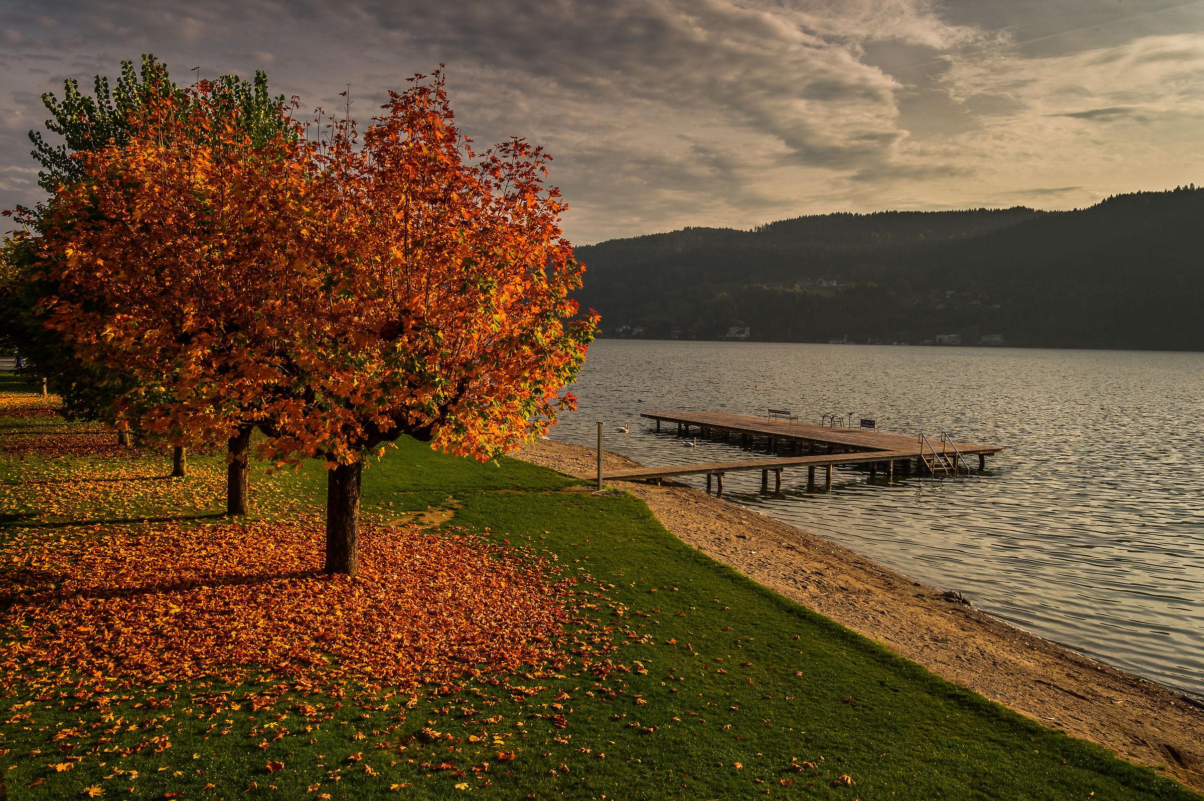 Un tardo pomeriggio al lago.......