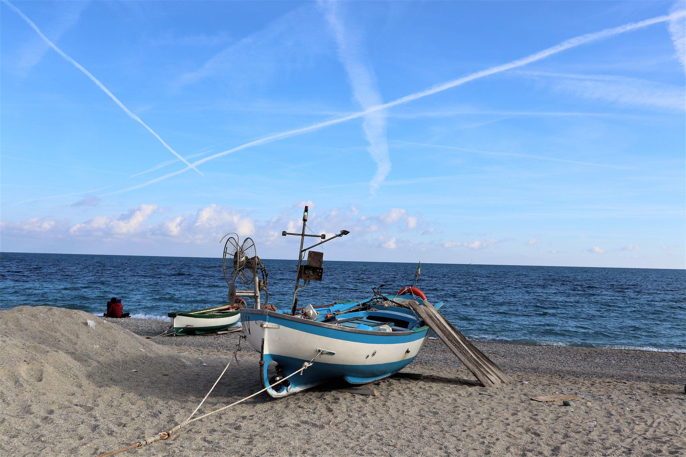 Le barche dei pescatori di Noli...