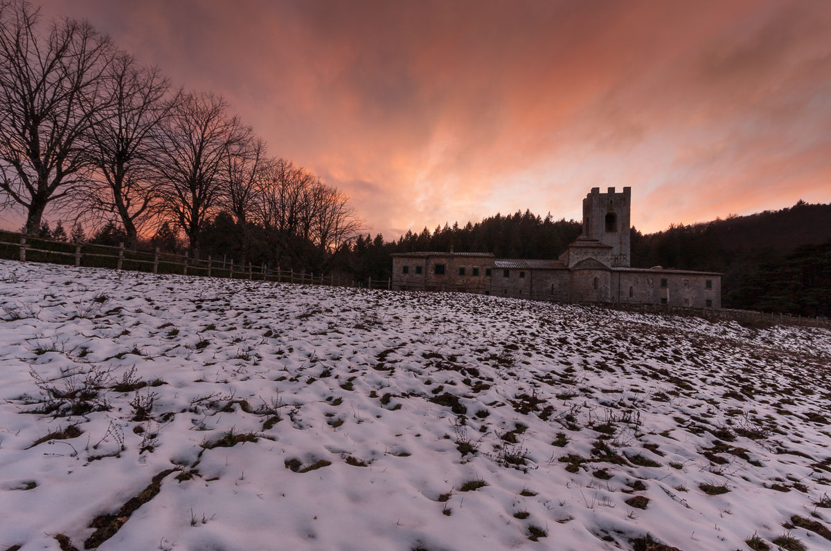 The snow at the abbey......