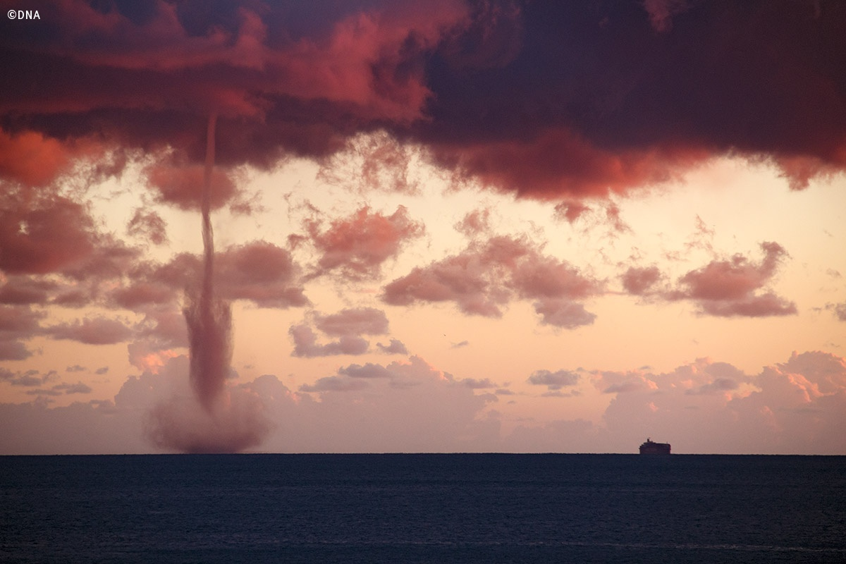 Waterspout off the coast of Genoa...