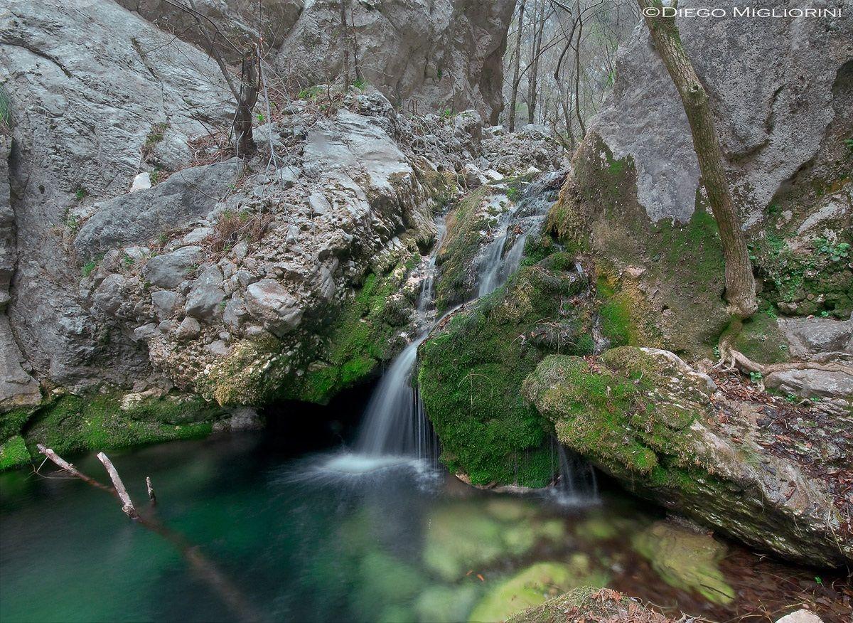 small waterfall...