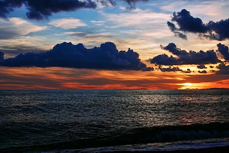Sunset at Ventimiglia (IM)...