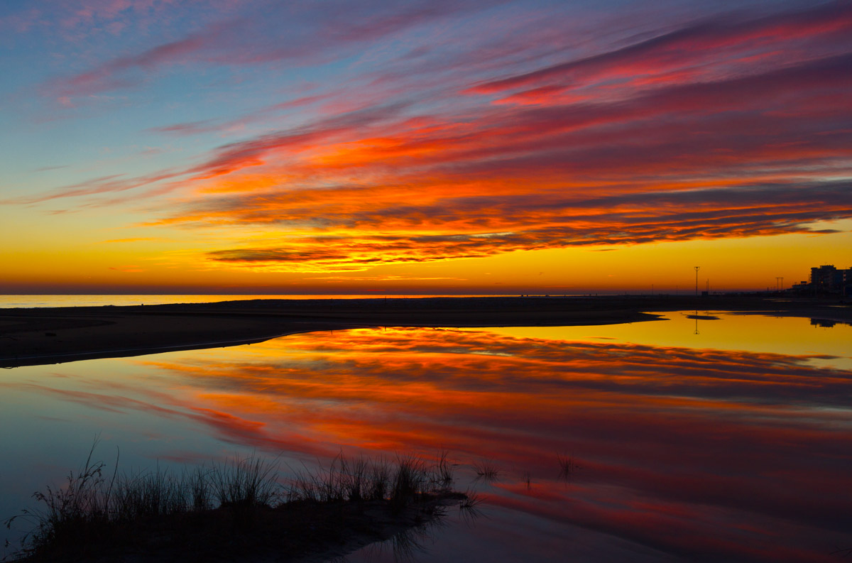Bibione and reflections of the sunset...