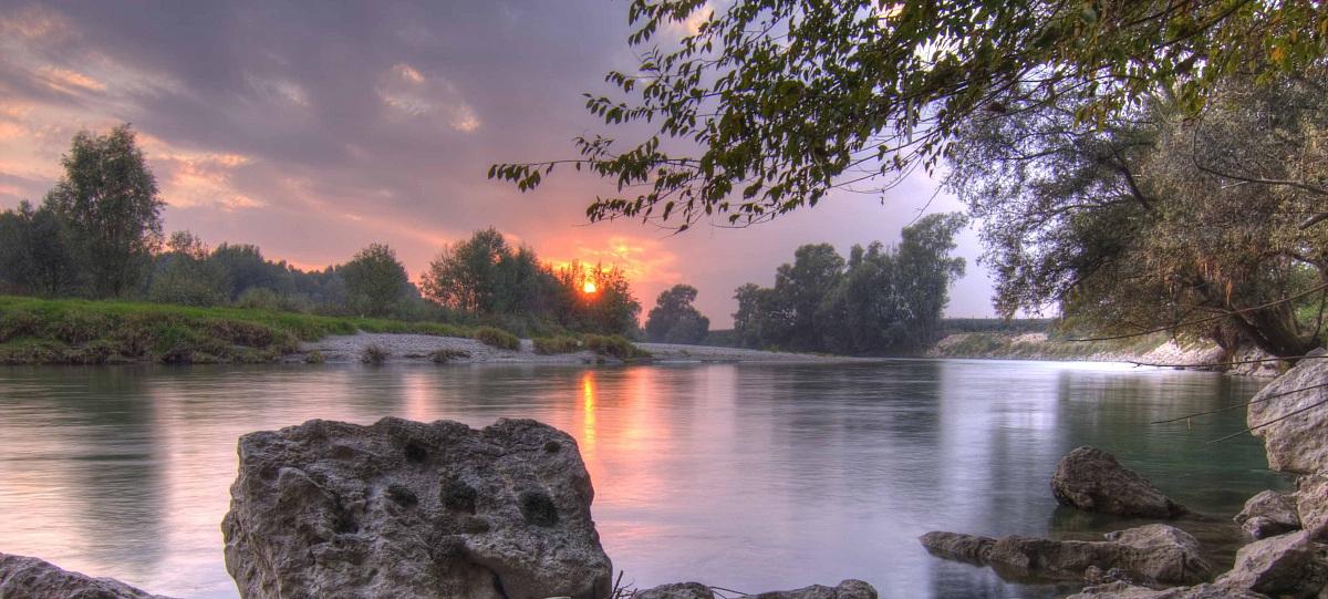sunset over the Adige...