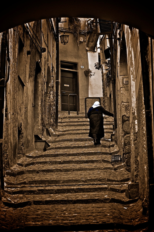 in an alley in Taggia (im)...
