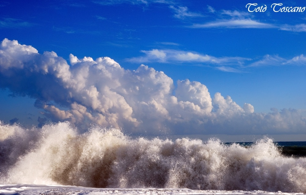 Sea and sky...