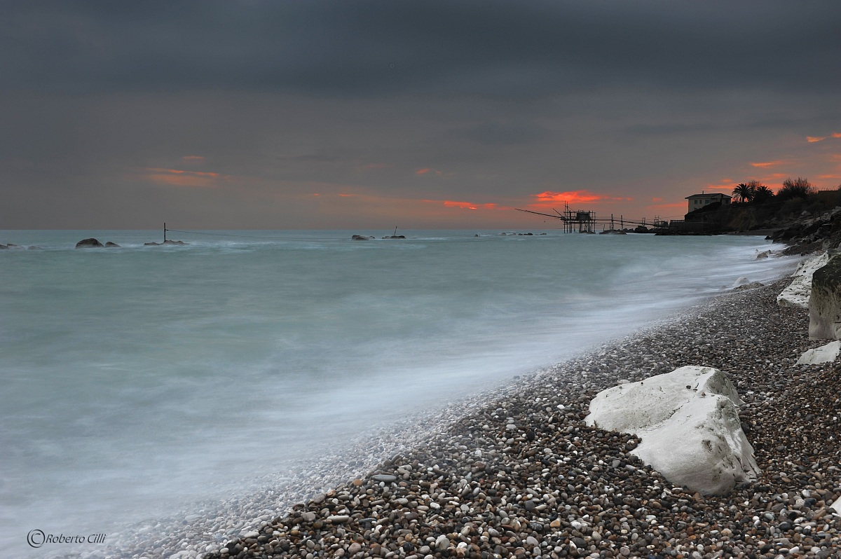 Sunrise on the coast of the overflow...