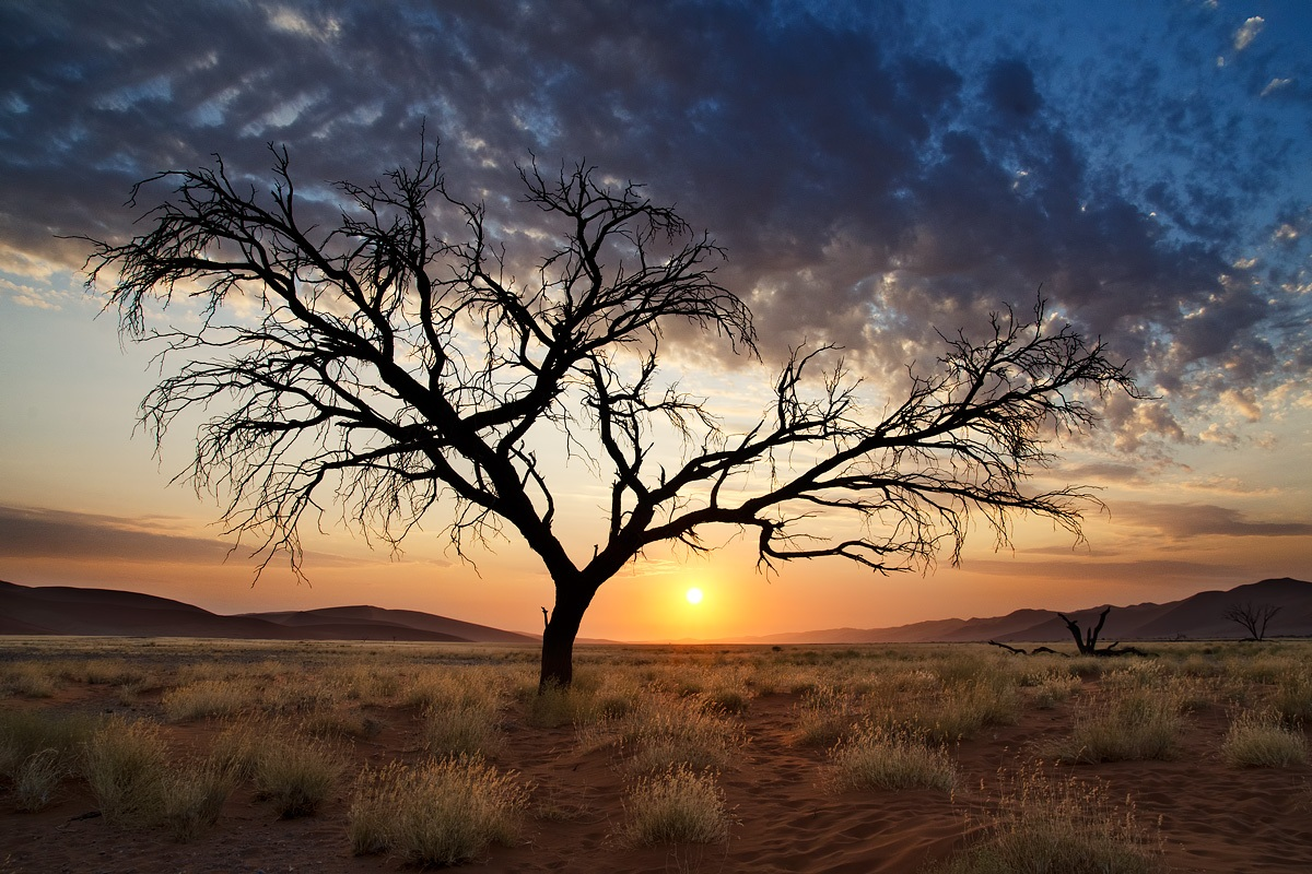 sunset over the Namib...