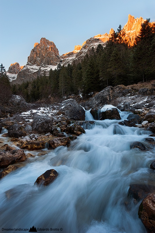 The roaring river, the silent sunset...