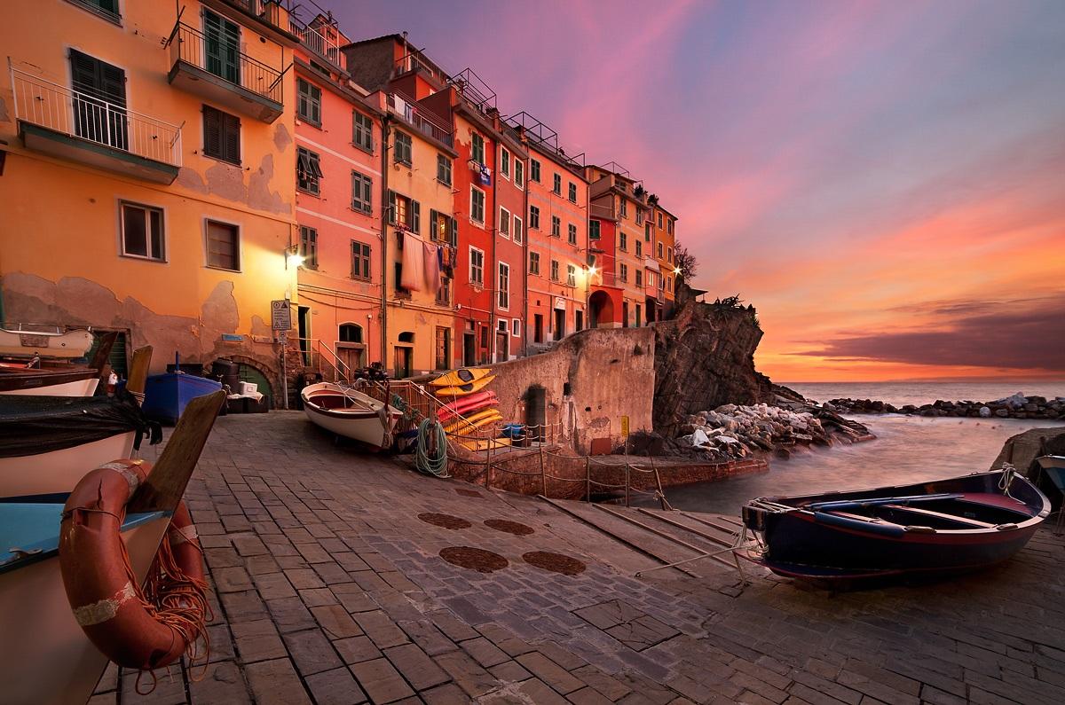 Sunset in Riomaggiore...