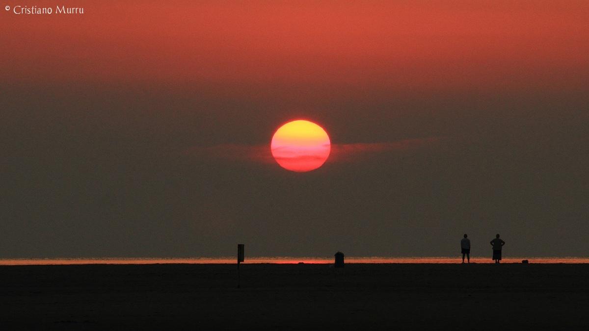 Alba sulla spiaggia di Porto Giunco,Villasimius...