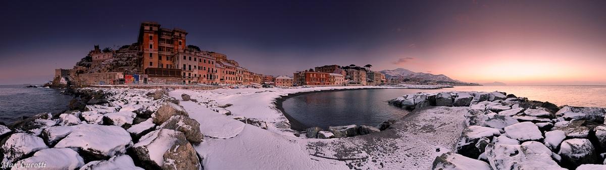 Snow on sea...