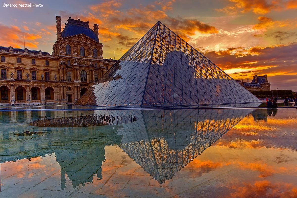 The pyramids of the Louvre...