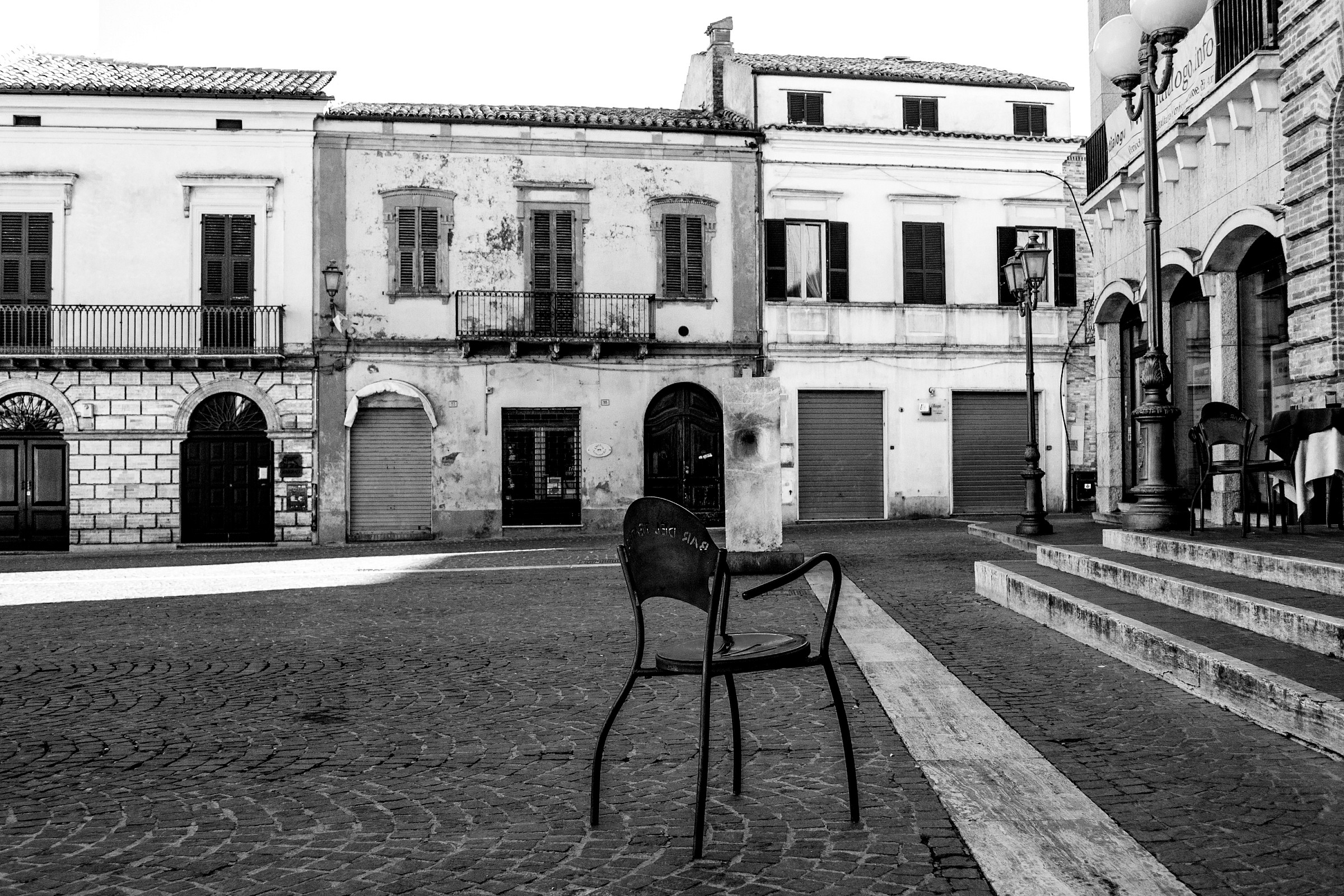 The chair of solitude...