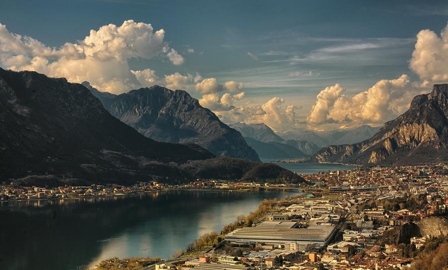 sun kissed Lake Como...