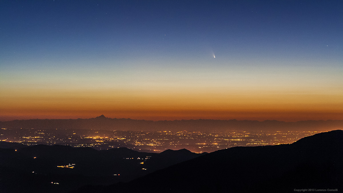 Comet Panstarrs with Monviso...