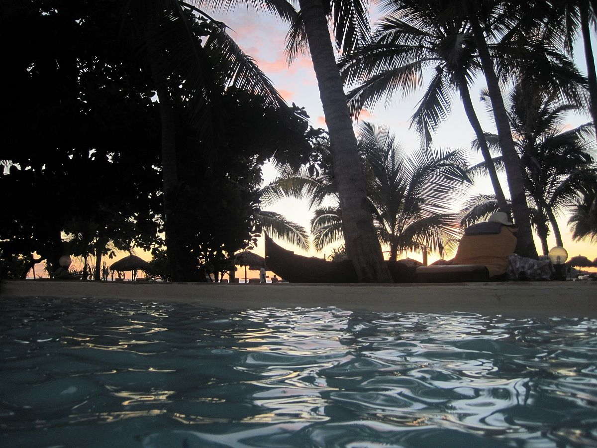Sunset from the pool...