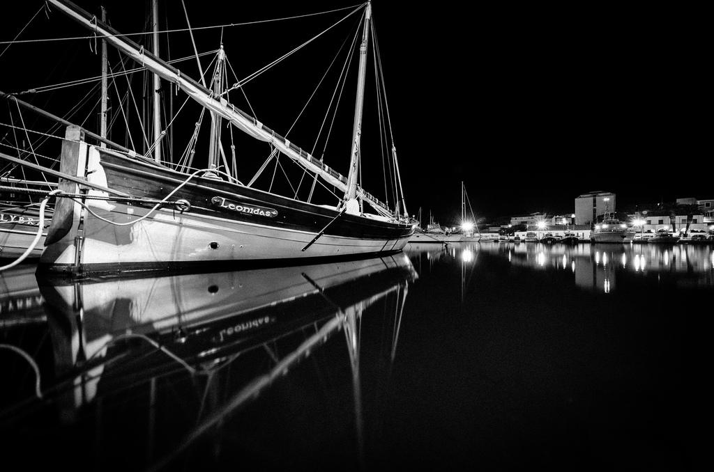 reflections b / w...