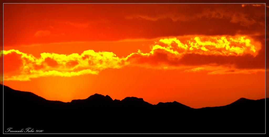 Fiery sunset!...