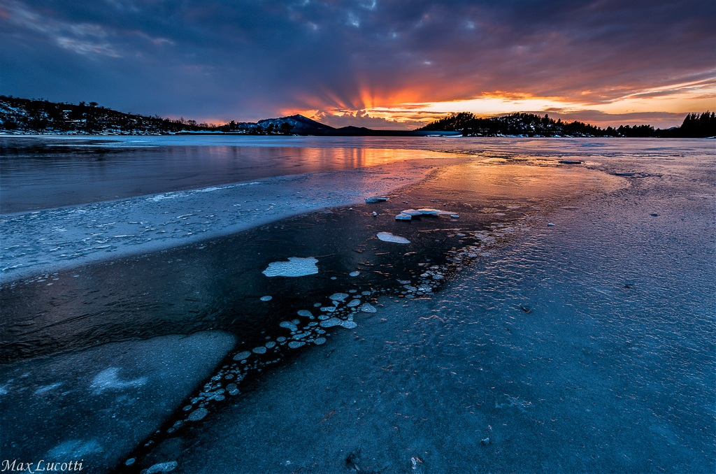 On the frozen lake...