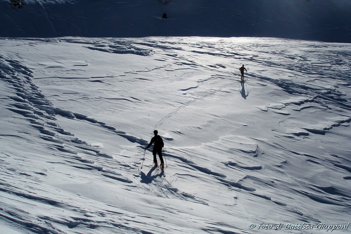 Ski touring on Orobian...