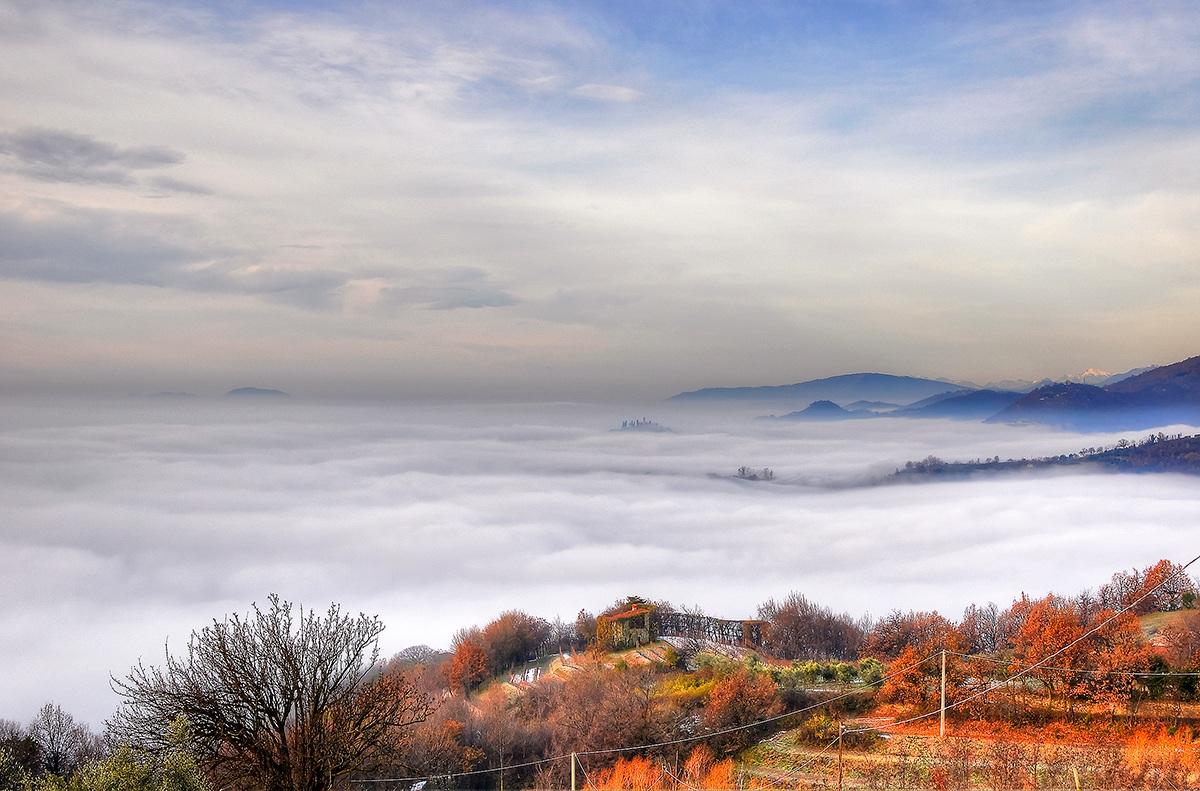 A sea of ??fog...