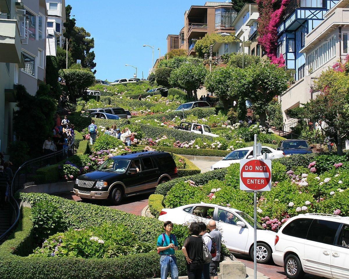 Lombard Street .San-Francisco...