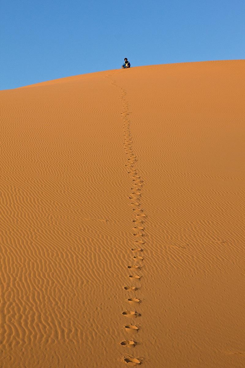 Tracce sulla sabbia...