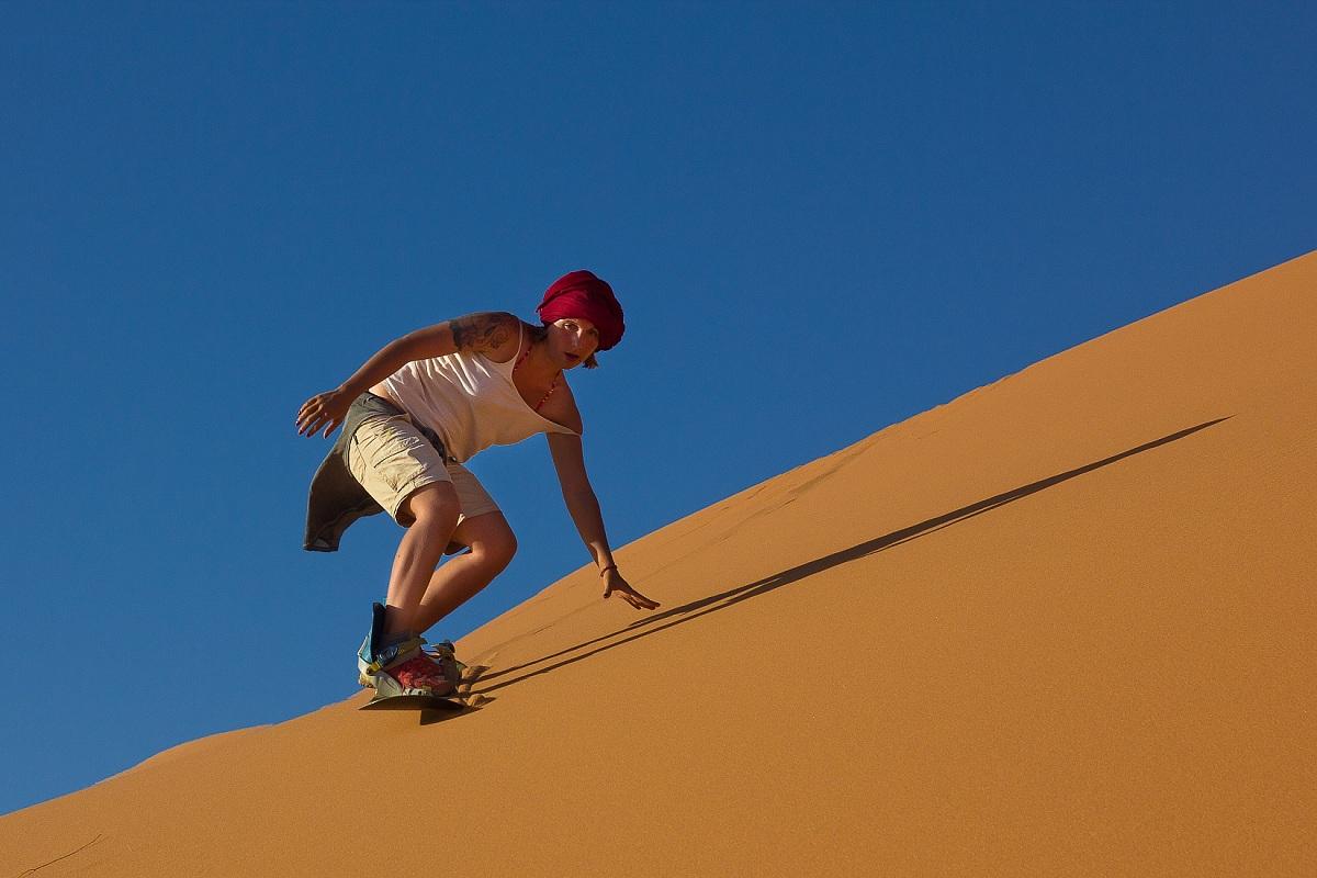 Snowbording sulle dune...