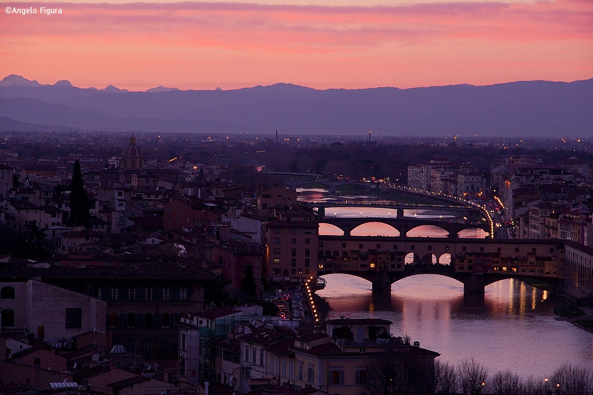 Arno river in Florence...