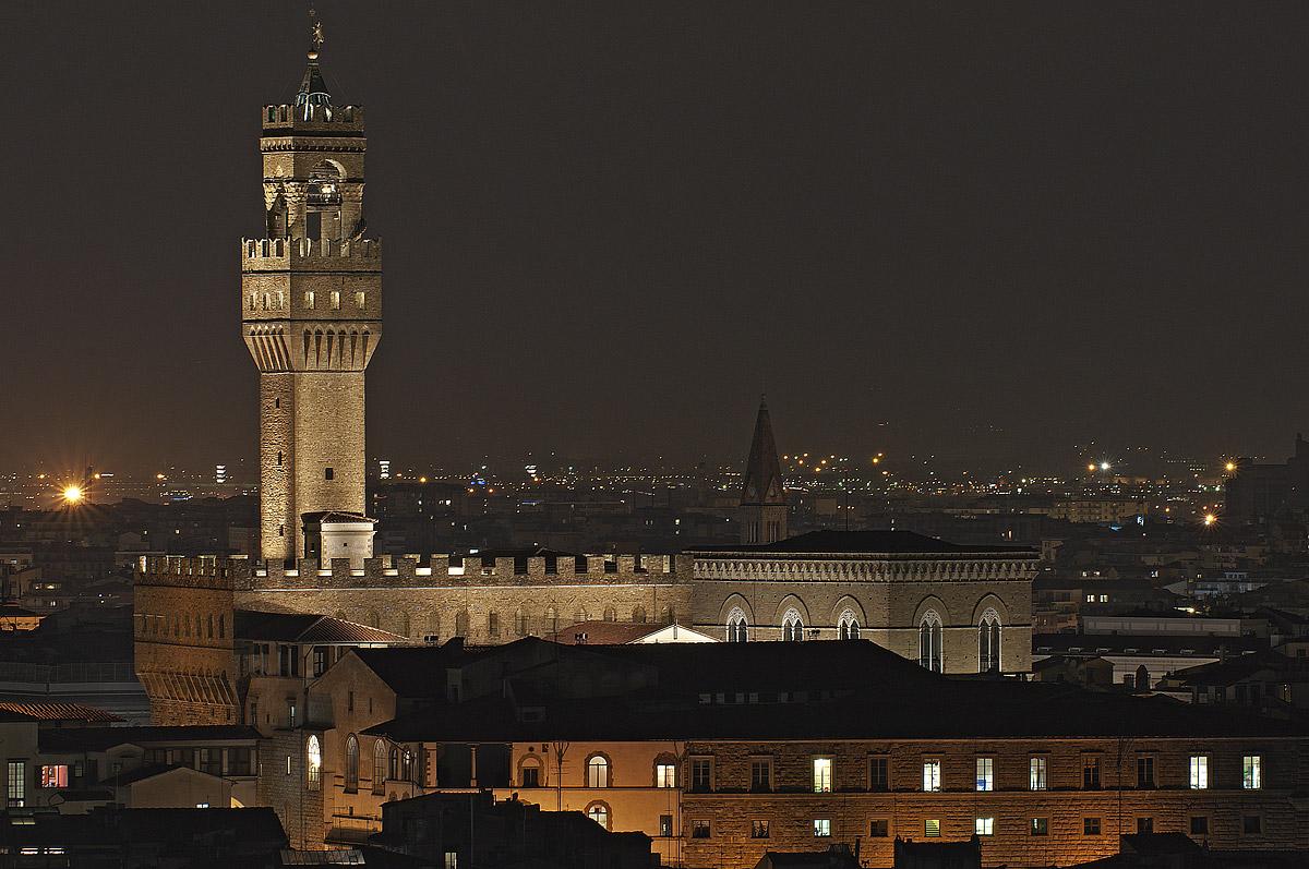 Firenze - Palazzo della Signoria dal piazzale Michelangelo...
