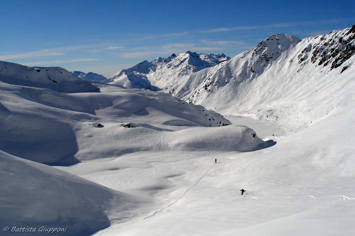 Ski touring on Orobian...
